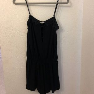 Black Romper with open front